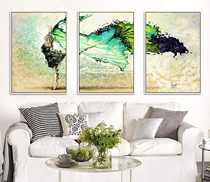 Khách hiện đại nhỏ gọn sơn trang trí cao cấp khung sơn triptych nhà hàng trang trí phòng ngủ sơn cạn