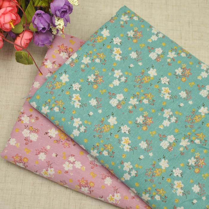 Vải sợi Bông , Chất Liệu vải lanh  , in bông hoa .
