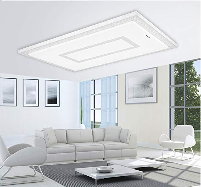 Đèn chùm trần  mỏng LED hình chữ nhật .