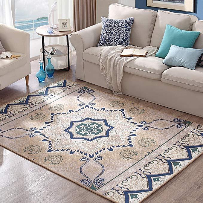 Châu âu tối giản hiện đại phòng ngủ giường đầy đủ đầu giường phòng khách bàn cà phê sofa thảm 160 ×