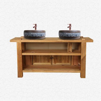 Moyer boutique Trung Quốc tủ phòng tắm chậu rửa tủ kết hợp tầng đôi đầu đôi lưu vực rắn gỗ gỗ phòng