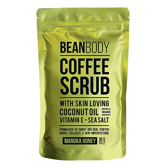 Bean Scrub rất giàu dầu dừa, muối biển, caffeine, vitamin E, làm mịn da và phục hồi sức sống của da