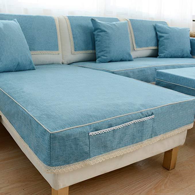 Sofa cover bìa nhíp bao gồm tất cả trượt kết hợp phong cách Châu Âu sofa đệm khăn dày đơn giản hiện