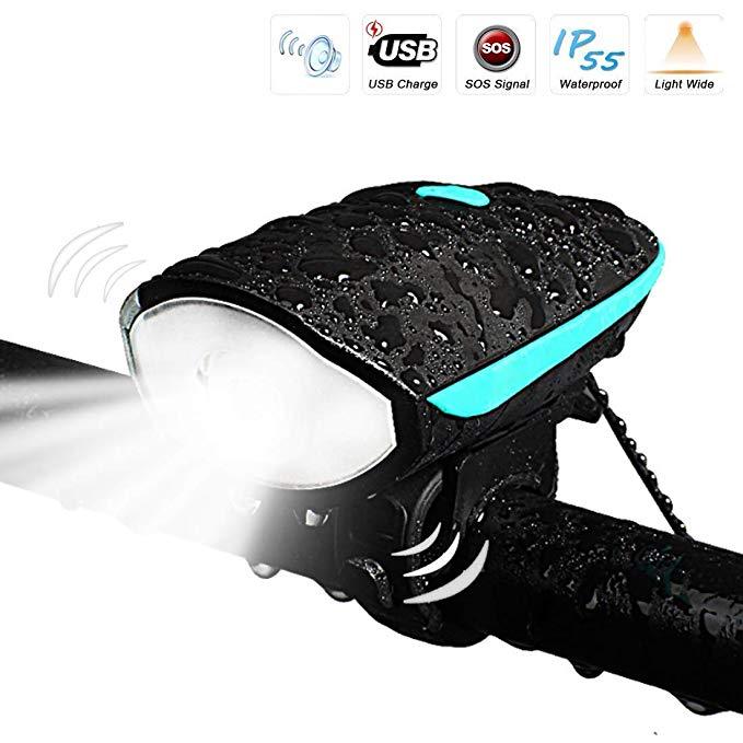 Đèn led gắn xe đạp Letour 3 chế độ sáng, cổng sạc usb