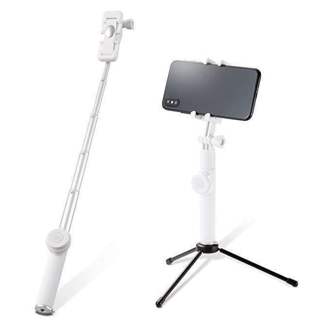 Elecom Self-timer Selfie Stick Chụp hẹn giờ với nút chụp Bluetooth với chân máy [Dành cho iPhone & a