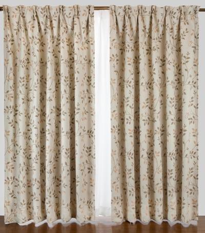 Leaf pattern 1 cấp màn rèm 2 piece màu be 100X 135 màu be 150X178