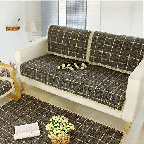 Le Wei Shi dệt sofa bìa vải quilting đệm sofa khăn Bay window đệm sofa đệm (màu xanh lá cây orange t