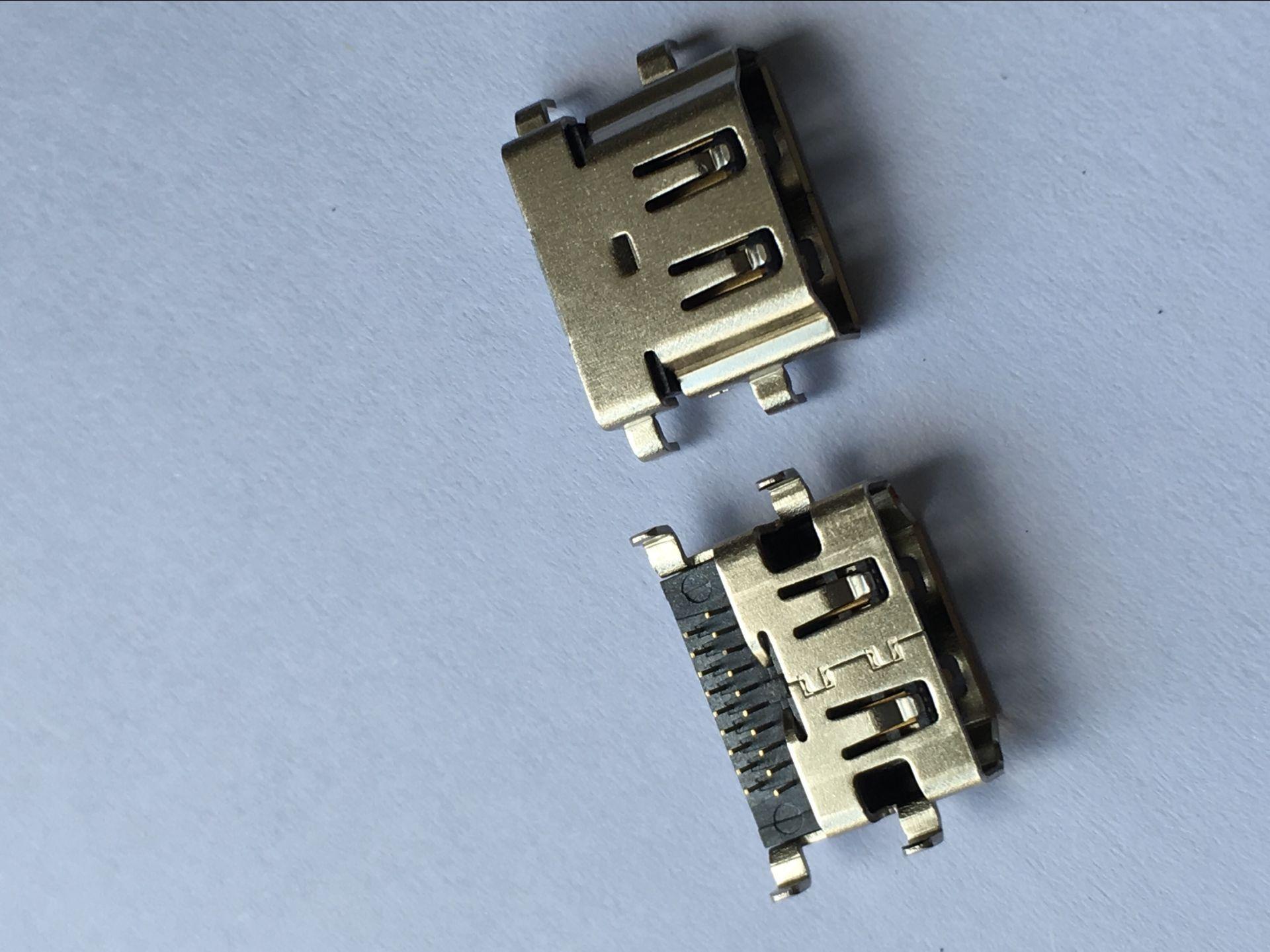 Nhà sản xuất cung cấp kết nối HDMI 19 P xếp chìm board hdmi kết nối usb thành phần điện tử nối