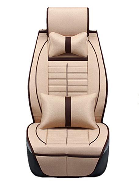 CHE AI REN bông và vải lanh bao gồm chỗ ngồi Bốn mùa phong cách phổ quát Bốn mùa đệm Ford sắc nét th