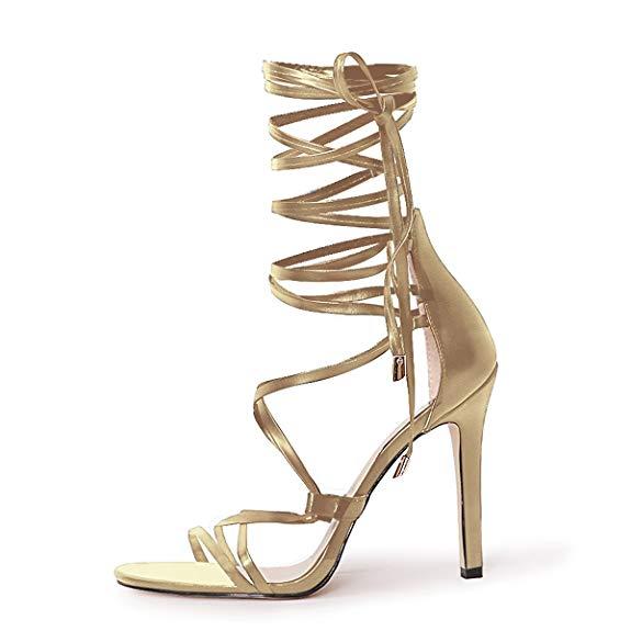Onlymaker của phụ nữ da lộn mở ngón chân dây đeo trở lại dây đeo với xếp chồng lên nhau dép chunky
