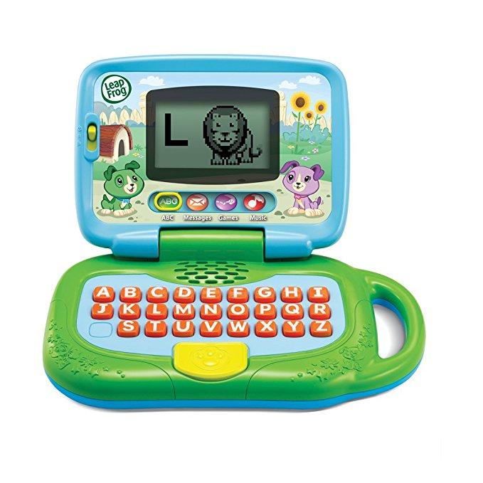 Leaptop học tập, vui chơi có bàn phím cho bé LeapFrog màu xanh lá