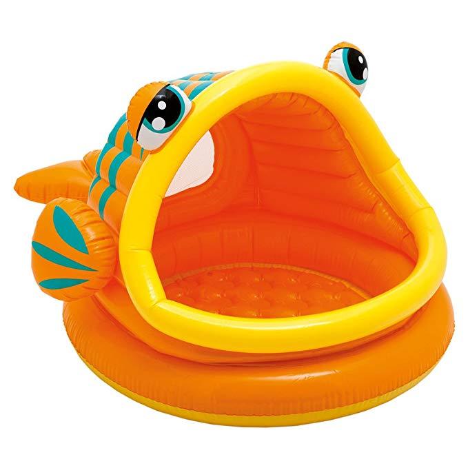 Bể bơi trẻ em có mái che hình con cá Intex