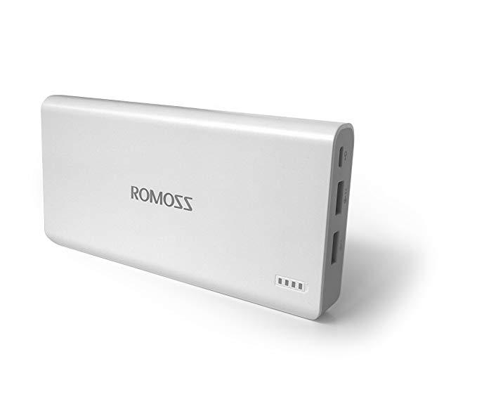 ROMOSS Romans sense6 Plus Edition Siêu điện thoại di động thông minh / Sạc kém 20000 mAh Đầu ra kép
