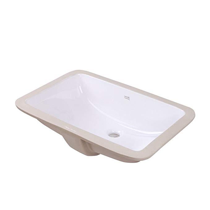 Bồn rửa Mặt cao cấp bằng Gốm sứ hình chữ nhật .