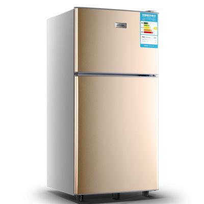 Nhỏ nhỏ đôi hộ gia đình cửa tủ lạnh căn hộ ký túc xá cho thuê phòng tủ đông lạnh tiết kiệm năng lượn