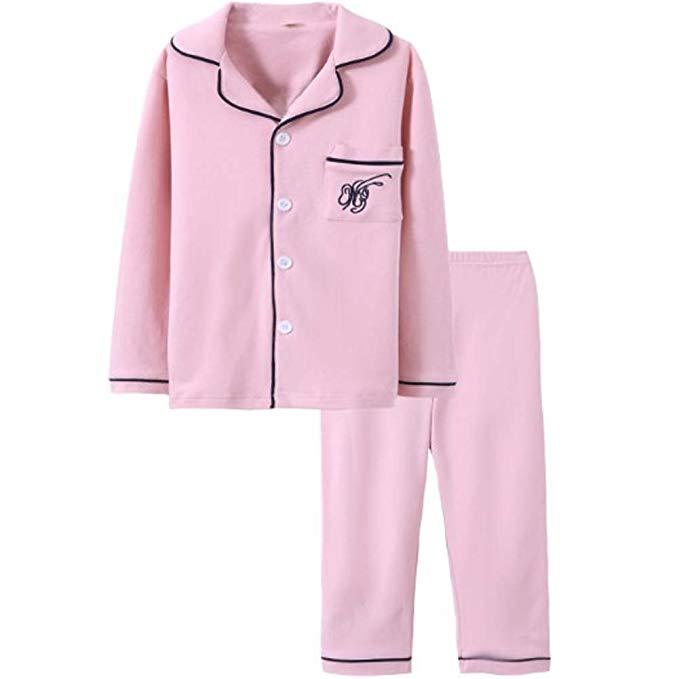 YD Yu Di Trẻ Em Pyjamas Bông Chàng Trai Cô Gái Đặt Trẻ Em Mặc Mùa Xuân và Mùa Thu Chàng Trai Mùa Đôn