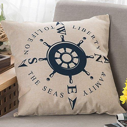 Những chiếc Gối Đệm Sofa sáng tạo với Kiểu in logo hình la bàn .