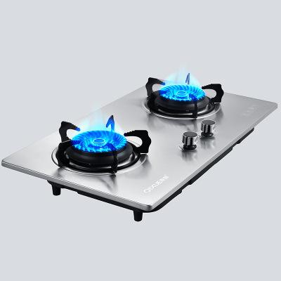 2018 new thép không gỉ bếp gas đôi bếp đôi mắt bếp nhúng bếp gas băng ghế dự bị nhúng dual-sử dụng h