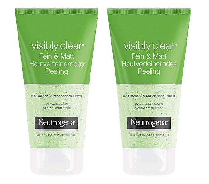 Neutrogena Neutrogena rõ ràng Clear Fine & Matte Skin Tẩy tế bào chết chà làm sạch lỗ chân lông chà