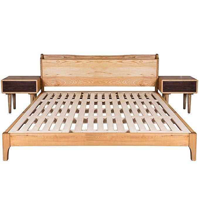 Nội Thất Phòng Ngủ : Giường Ngủ gỗ với Thiết kế Đơn giản .