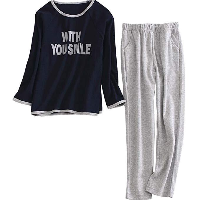 YD Yu Di Trẻ Em Pyjamas Cotton Đặt Chàng Trai và Cô Gái Trẻ Em Mặc Mùa Xuân và mùa thu Mùa Đông Chàn