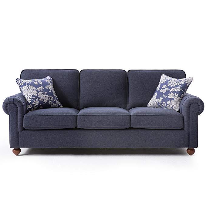 Nội Thất căn hộ : Bộ ghế sofa cao cấp màu Xanh .