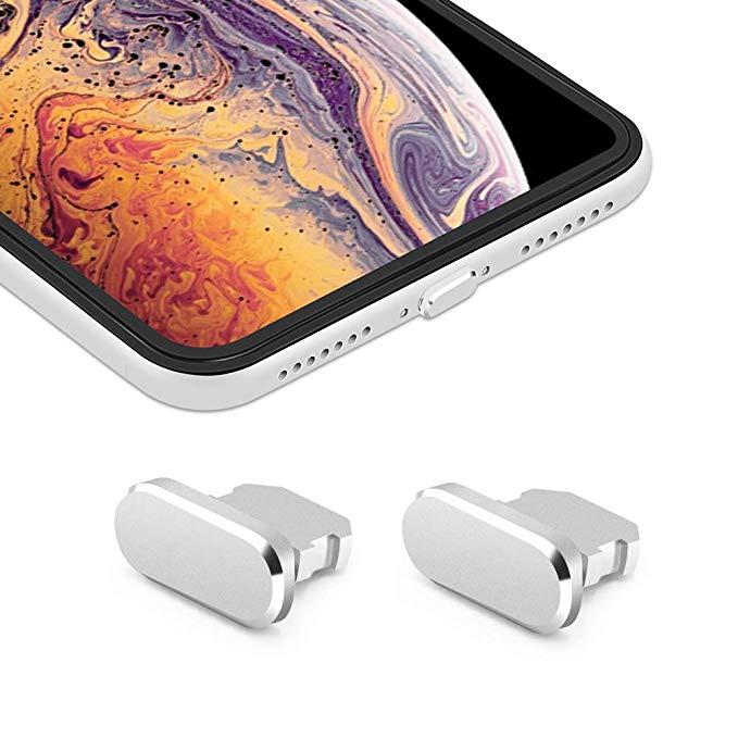 iMangoo [Pack of 2] iPhone Xs Max 8-pin sạc cổng cắm iPhone X S * bụi lớn cắm iPhone 10s sạc cổng cắ