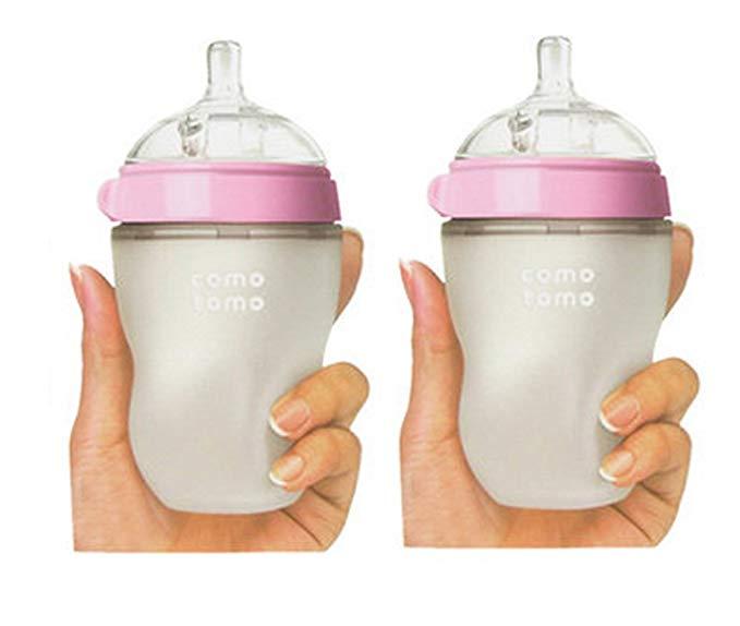 Sét 2 bình sữa cho bé Hiệu Comotomo , Màu hồng  (250ml)