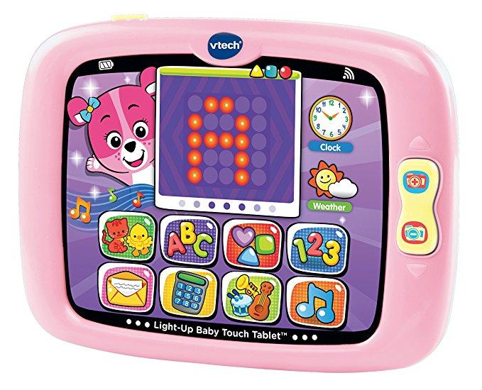 Máy tính bảng VTech màu hồng có đèn phát sáng