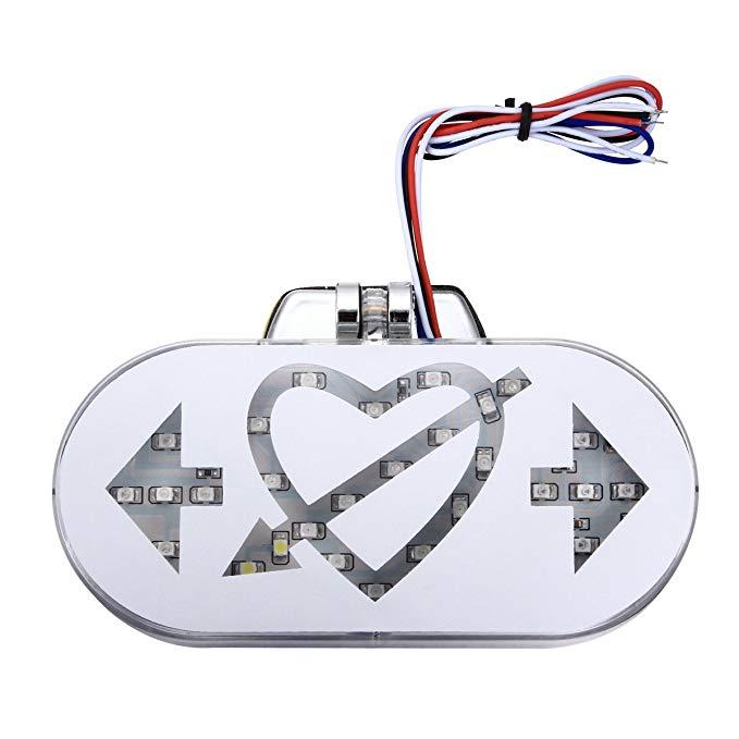 Merdia Metia Phụ Kiện Xe Máy Phanh Đèn Trang Trí LED Đèn Lồng Đèn Đuôi Đèn Phanh Bật Tín Hiệu Mũi Tê