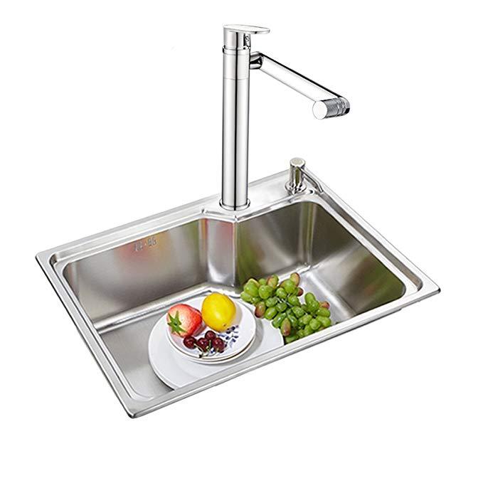 Vật dụng cho Nhà bếp : bồn rửa chén 560 * 420 bộ đơn 560 + bộ vòi rocker dài .