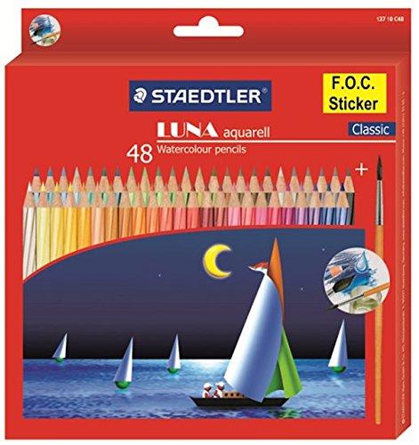 Staedtler Shidelou LUNA tan trong nước bút chì màu 48 màu sơn đặc biệt màu chì 137 10 C48