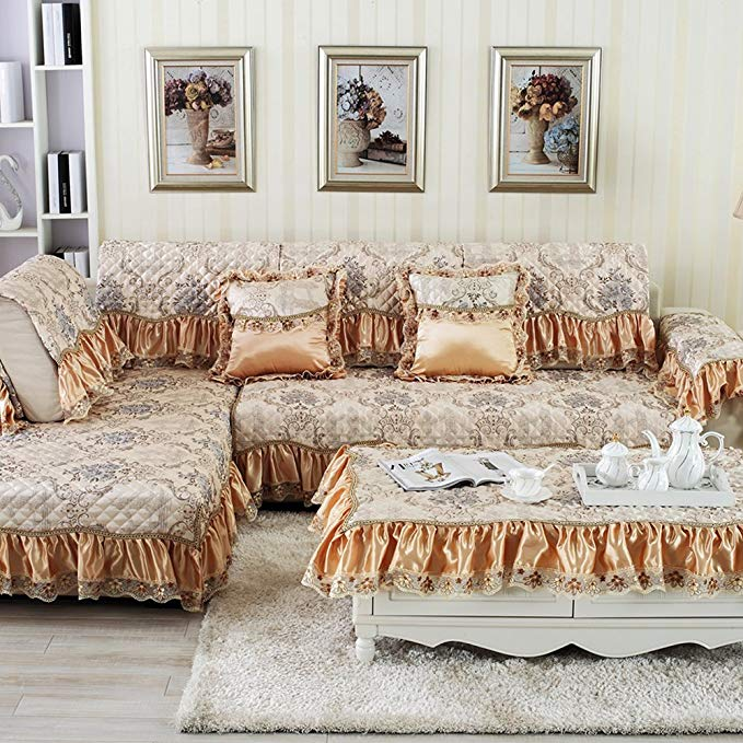 S-EMIGA Shangmeijia Bốn mùa có sẵn Châu Âu sofa đệm Cao cấp sang trọng jacquard Mùa Thu và mùa đông