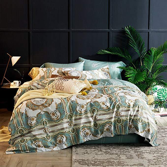 J.H.Longess 60 dài nhung cotton bốn mảnh cotton 1.5 m giường in satin dài-staple bông 1.8 m giường q