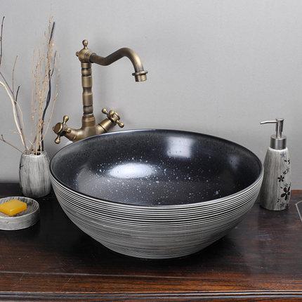 Moyer tay chạm khắc nghệ thuật cổ điển phòng tắm gốm chậu rửa chậu rửa chậu rửa mặt