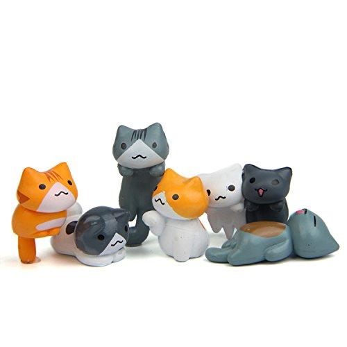 Bộ 6 tượng mèo nhỏ trang trí HOLANTON