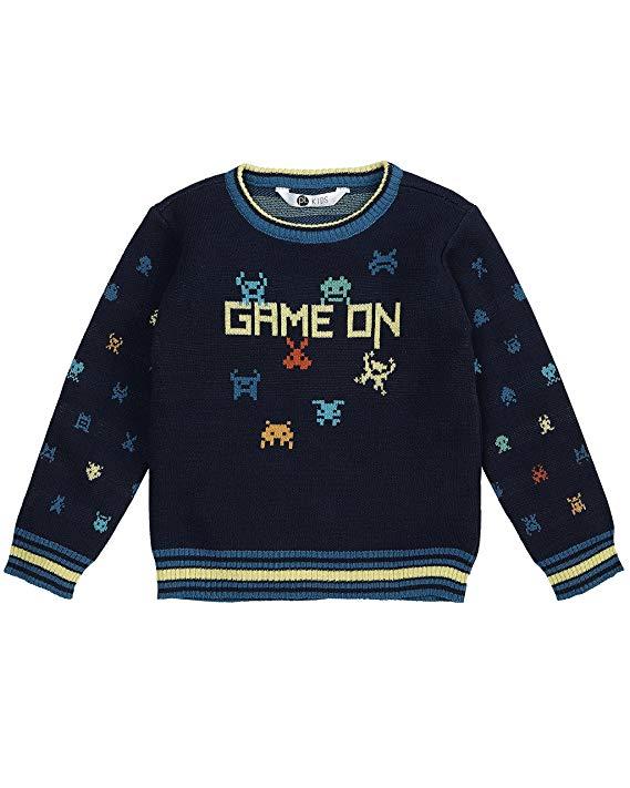 Petit lem boy techno thành phố đan áo len