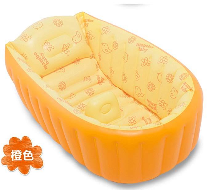 Bồn tắm bơm hơi màu cam hình chiếc thuyền PENGYI