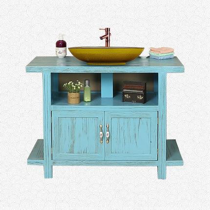 Moyer phòng tắm tủ phòng tắm gỗ rắn retro cổ phòng tắm tủ nghệ thuật chậu rửa lưu vực trên truy cập