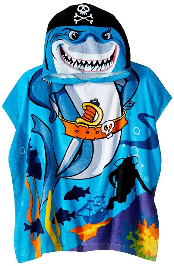 Northpoint Pirate Shark Kids trùm đầu bãi biển khăn, 24 x 48 inch