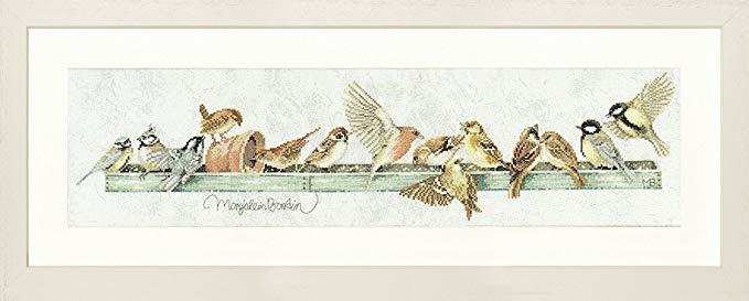 Tranh thêu chữ thập đàn chim sẻ Unbekannt