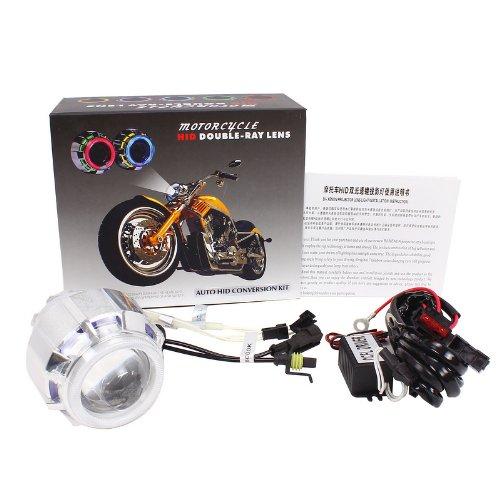 Merdia Metia HID đèn Xenon 4300K-6000K ống kính kép bộ đèn pha Phân phối ballast 12v35w xe máy sửa đ