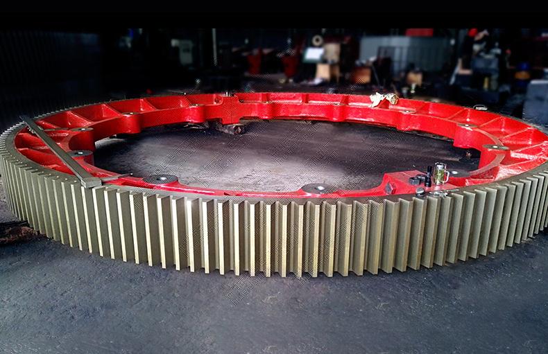 Các nhà sản xuất lớn Mill bánh vòng macrodonta máy sấy. Thiết bị lớn. Nhà máy thiết bị lớn.