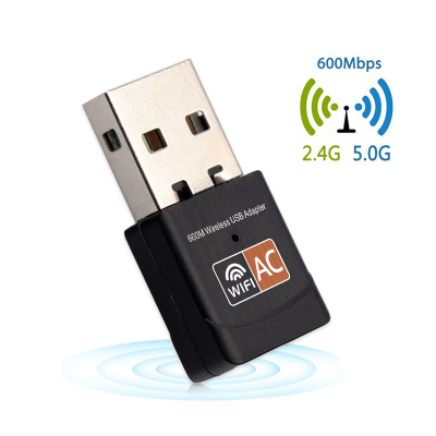 Nhà máy bán buôn AC600M dual-band USB card mạng không dây 5 Gam mini 2.4 bên ngoài wifi card mạng kh