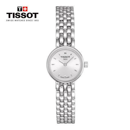 Tissot Tissot Thụy Sĩ chính thức đích thực loạt tình yêu màu đen quay số nhỏ vành đai thép thạch anh
