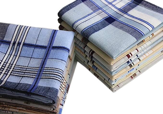 LA con dấu của nam giới khăn tay cổ điển bông khăn tay khăn tay