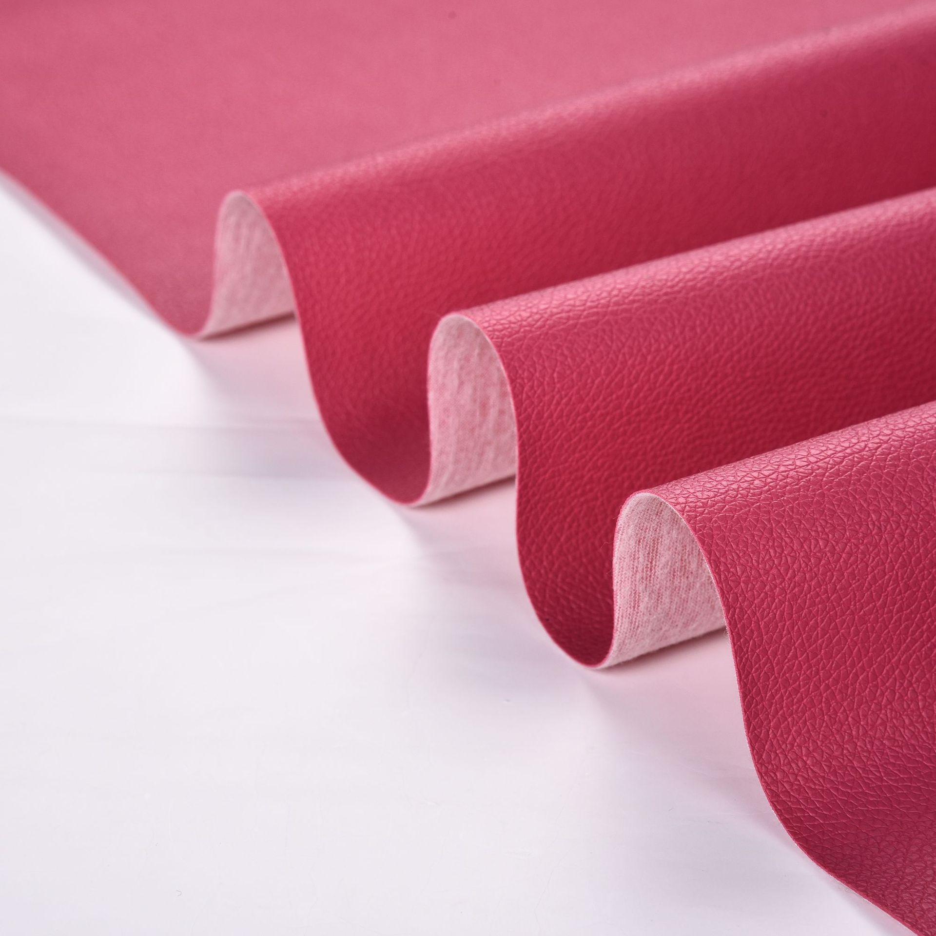 Nhà máy bán buôn bán hàng trực tiếp PVC vải thiều nhỏ da vải hành lý thắt lưng da sofa chất liệu 0.7