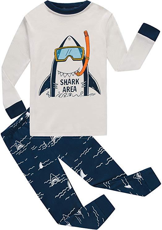 Cậu bé đồ ngủ máy bay bông quần áo trẻ em ngắn phù hợp với trẻ em phim hoạt hình đồ ngủ bộ