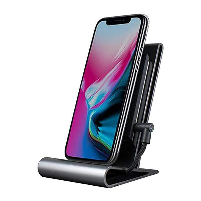 HOMI Corestand không dây điện thoại di động chủ qi chứng nhận sạc cơ sở hỗ trợ iPhone8 / 8plus iPhon