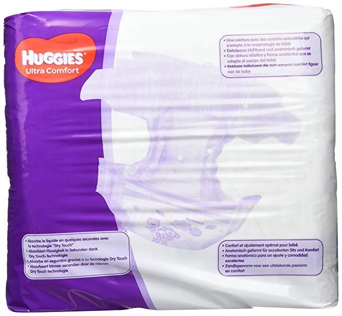 Tã giấy HUGGIES có lớp Bông siêu thấm , siêu thoải mái .